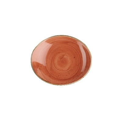 Vassoio Ovale Arancio 19,2 x 16,4 cm Stonecast Churchill