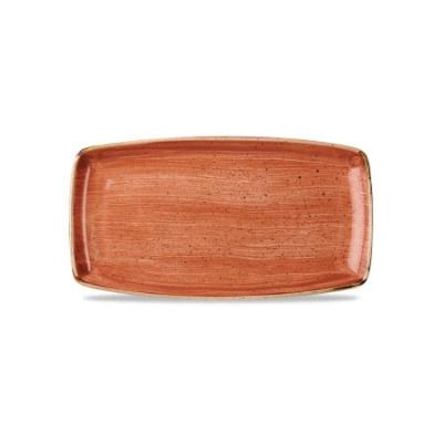 Vassoio Rettangolare Arancio 35 x 18,5 cm Stonecast Churchill