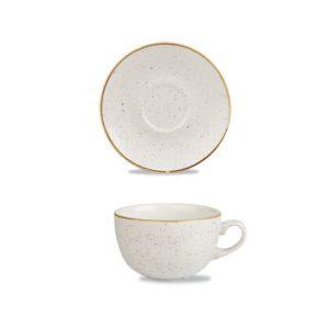 tazza e piattino bianco