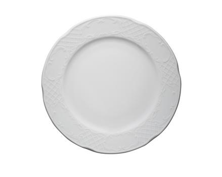 Piatti Piani Porcellana Bianca Classico