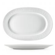 Vassoi Ovali Porcellana Bianca