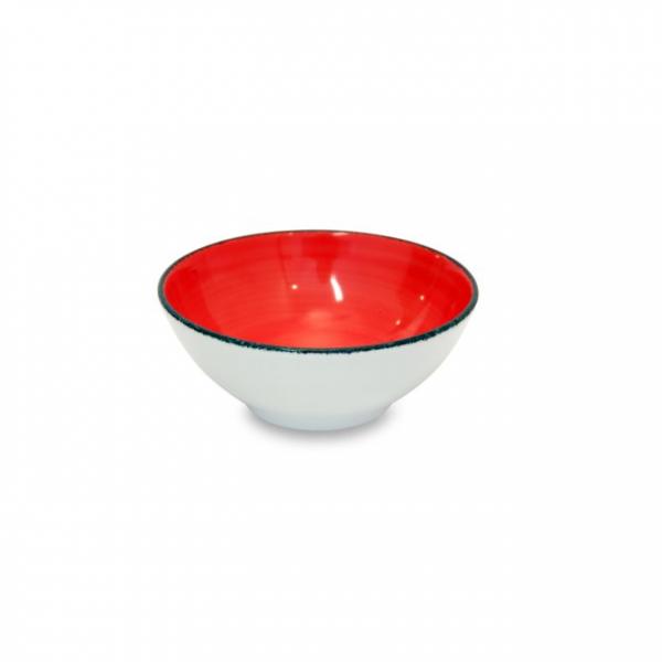 Coppetta Brush Rosso Corallo 13 cm
