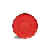 Piatto Pizza Brush Rosso Corallo 33 cm