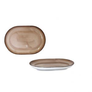 Vassoio Ovale Brush Tortora 33 cm
