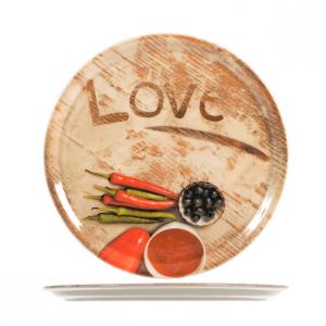 Piatto Pizza Love 33 cm