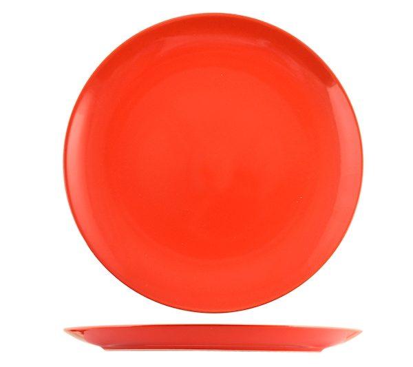 Piatto Piano Rosso 26 cm