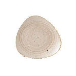 Piatto Piano Triangolare Crema 31 cm Stonecast Churchill