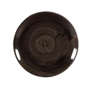 Piatto Piano Nero 29 cm Stonecast Churchill