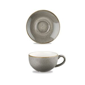 TAZZA-THE-CON-PIATTINO-STONECAST-GRIGIO-PUNTINATO-22-7CL-CHURCHI-big-15218