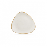 Piatto Piano Triangolare Bianco 31 cm Stonecast Churchill