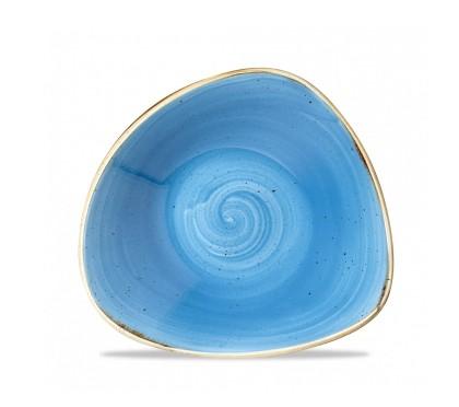 Piatto Triangolare Blu 23.5 cm