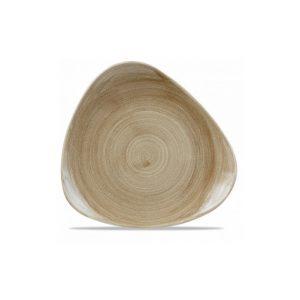 Piatto Piano Triangolare Marrone 31 cm
