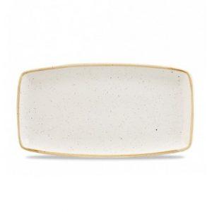 Vassoio Rettangolare Stonecast Churchill Bianco