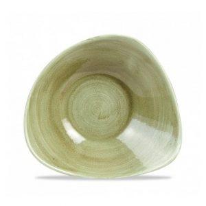 Piatto Triangolare Verde 23.5 cm