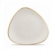 Piatto Piano Triangolare Bianco 22,9 cm Stonecast Churchill