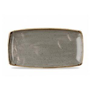 Vassoio Rettangolare Stonecast Churchill Grigio 35x18 cm