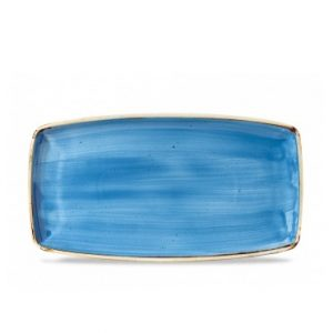 Vassoio Rettangolare Stonecast Churchill Blu 35x18 cm
