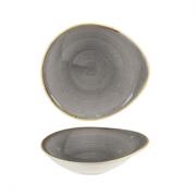 Coppa Ovale Grigia 18,5 x 16,8 cm Stonecast Churchill