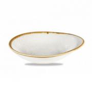 Coppa Ovale Bianca 16 x 14,5 cm Stonecast Churchill