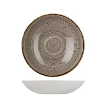 Piatto Fondo Coupe Grigio 24,8 cm Stonecast Churchill