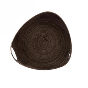 Piatto Pane Triangolare Nero 22,9 cm Stonecast Churchill