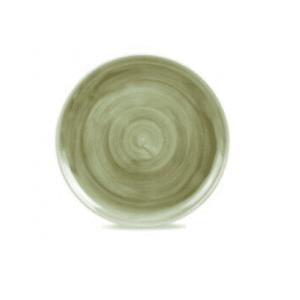 Piatto Piano Verde Striato 32 cm Stonecast Churchill