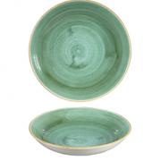 Piatto Fondo Coupe Samphire Verde 24,8 cm Stonecast Churchill