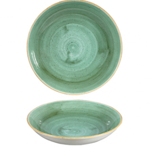 Piatto Fondo Coupe Samphire Verde 24,8 cm Stonecast Churchill