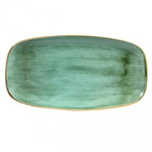 Vassoio Rettangolare Stonecast Churchill Samphire Verde 35x18 cm